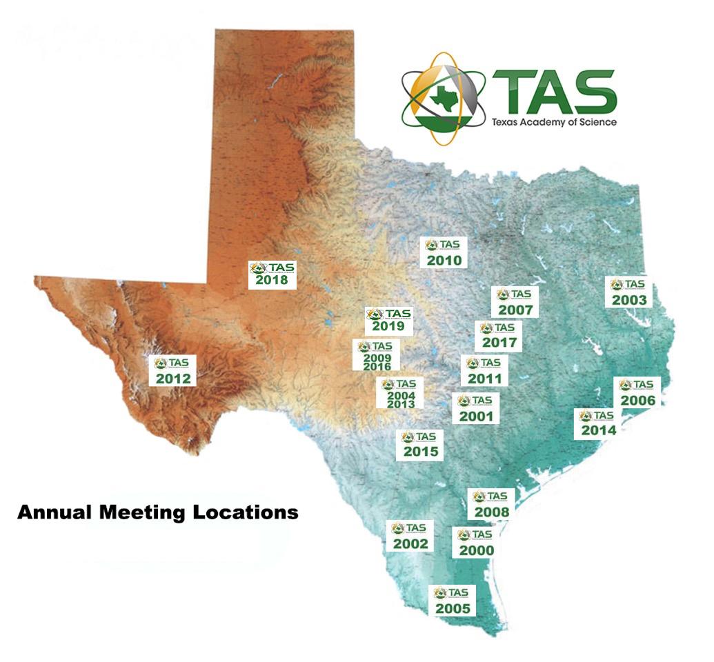 Map Of Texas 2014.Meetings